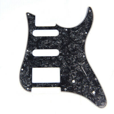 Guitar Pickguard For YAMAHA Pacifica EG 112 EG112 PAC112V ,4Ply Black Pearloid for sale  Shipping to India