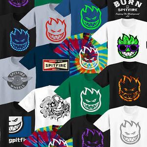 SPITFIRE-WHEELS-Camiseta-Varios-Disenos-Skate-Tees-Camisetas