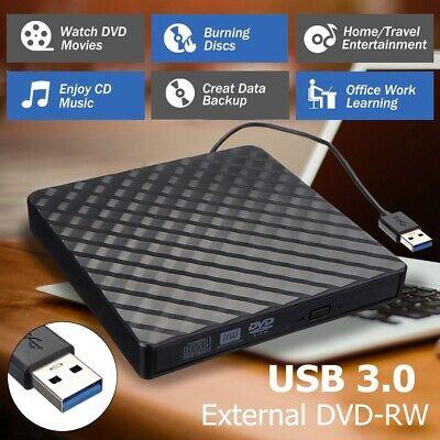 USB 3.0 External CD DVD RW Writer Slim Drive Burner Reader Player For PC Laptop