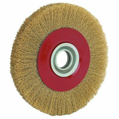 8 Inch Round Brass Wire Brush Wheel For Bench Grinder Rustpaint Removal