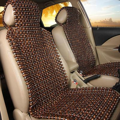 (Natural Cool Wood Beaded Seat Cover Massage Comfortable Car Cushion Chair Cover)