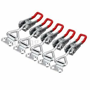 5x Adjustable Toggle Clamp Pull Action Latch Hand 100KG/220lbs Holding Capacity