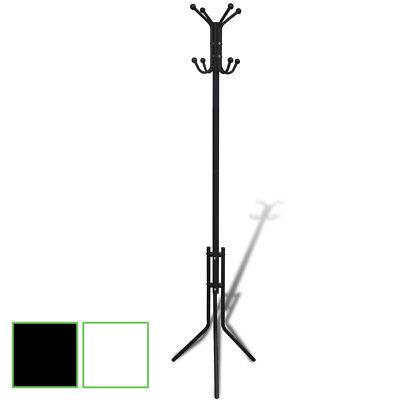 Metal Coak Rack Blackwhite Stand Hat Holder Hallway Organizer Hooks Hanger Tree