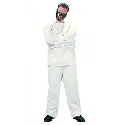 Straight Jacket Costume and Mask Adult Hannibal Lecter Halloween Fancy Dress - Halloween Straight Jacket