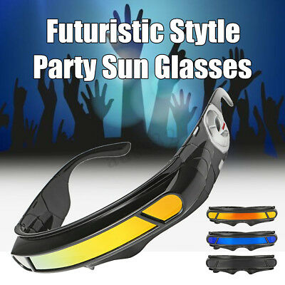 Futuristic Party Rave Costume Cosplay X-Men Cyclops Robot Wrap Visor Sun ](Cyclops Costume X Men)