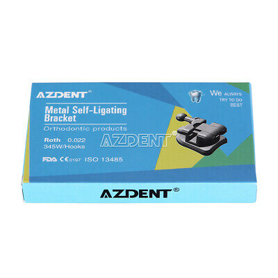 Azdent Dental Orthodontic Brackets Self Ligating Roth.022 Hooks 345 Buccal Tube