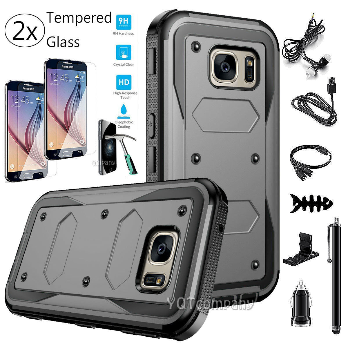 Armor Shockproof Rubber Phone Hard Case Cover For Samsung Ga