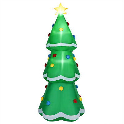 10' Inflatable Christmas Tree LED Lighted Giant Waterproof Tree Indoor & Outdoor