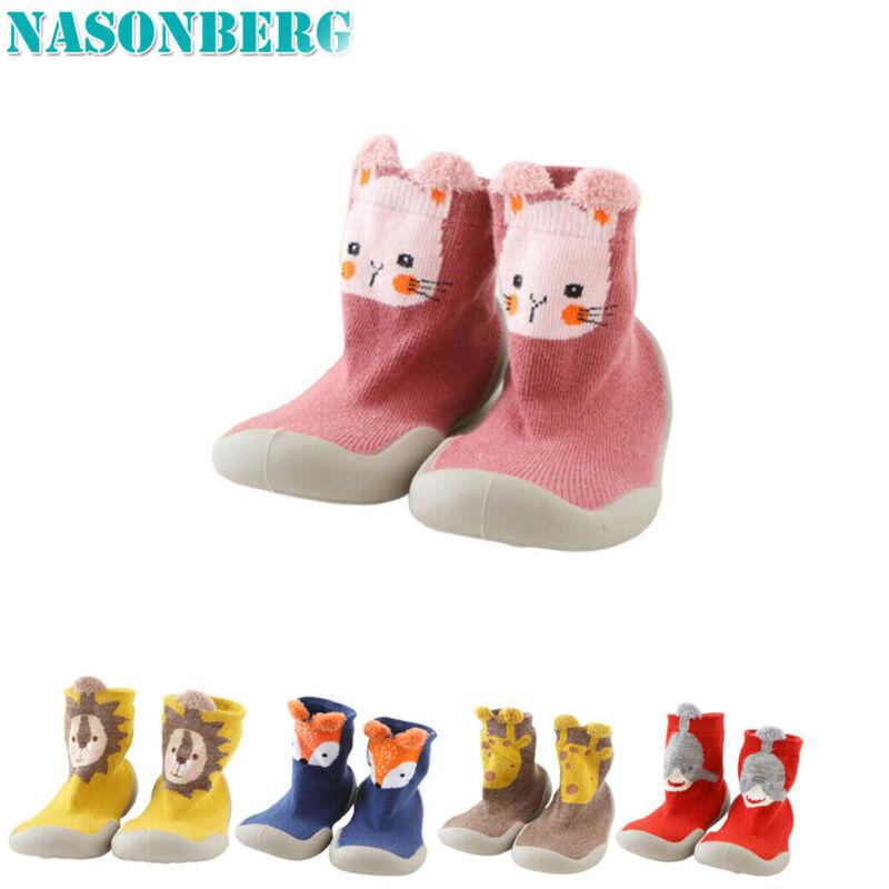 Baby Girl Boy Toddler Infant Anti-Slip Crawling Slippers Socks Cotton Crib Shoes