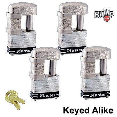 Master Lock - (4) Keyed Alike Trailer & Multi Purpose Padlocks 37NKA-4 BumpStop