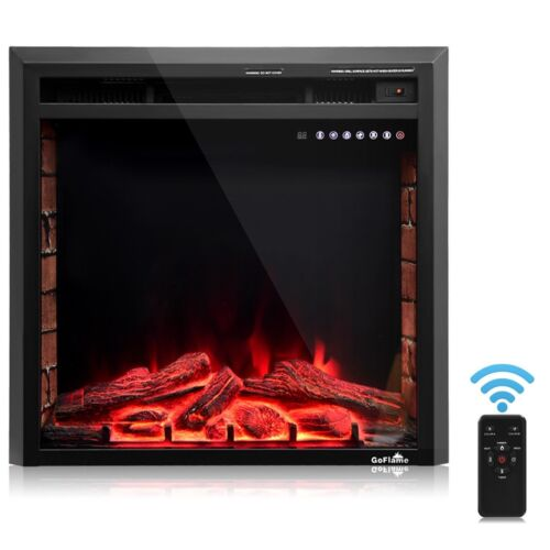 """26"""" Embedded Electric Fireplace Wall Mount Heater with Remot"""