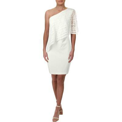 Lauren Ralph Lauren Womens Ivory One Shoulder Special Occasion Dress 8 BHFO 6501