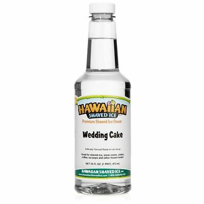 Hawaiian Shaved Ice Wedding Cake Flavor Snow Cone Syrup 1 Pint16ounces