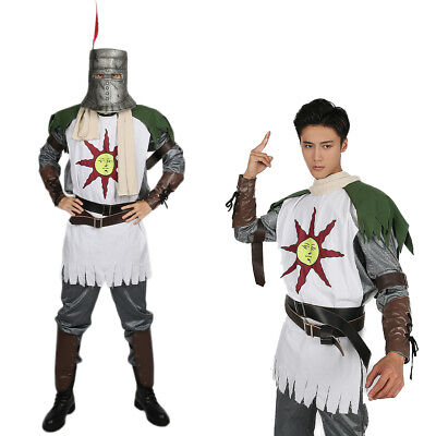Dark Souls Cosplay Costume Solaire Forever Sun Warrior Mask Halloween Party (Sun Solaires)