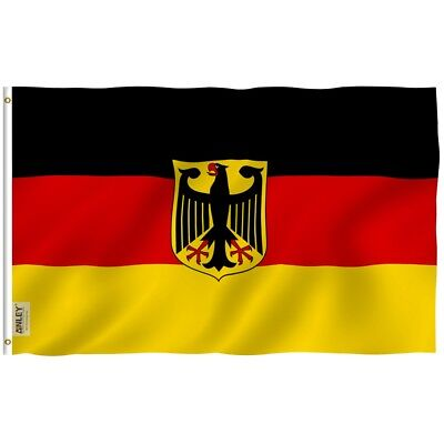 - ANLEY German State Eagle Flag Old Germany Banner Polyester 3x5 Foot Flags