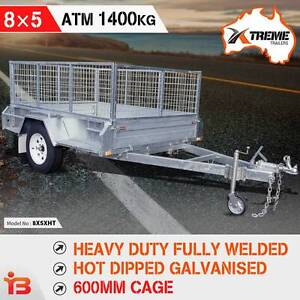 Heavy Duty Full Welded 8X5 Galvanised Box Trailer 600mm Cage Fairfield East Fairfield Area Preview
