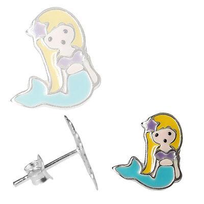 Kleine Meerjungfrau Ringe (1 Paar Ohrstecker Kleine Meerjungfrau Ohrringe 925 Sterling Silber )