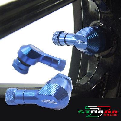 """Strada 7 83 Degree 11.3mm 0.445"""" inch CNC Valve Stems Honda FIREBLADE SP Blue"""