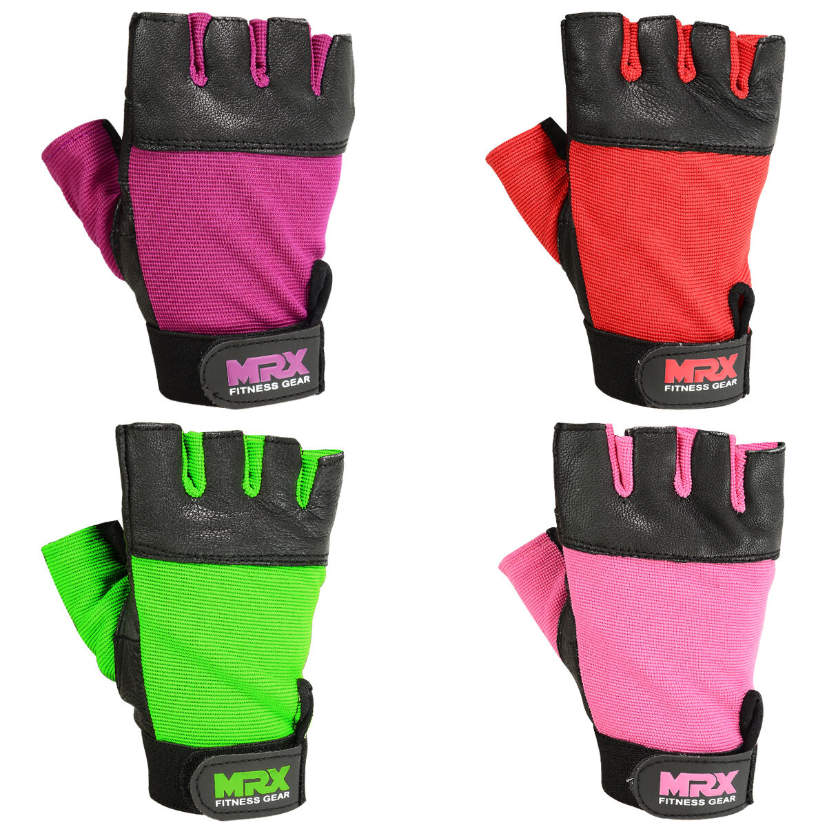 MRX Weightlifting Gloves Gym Workout Leather  Gym Weight Lif