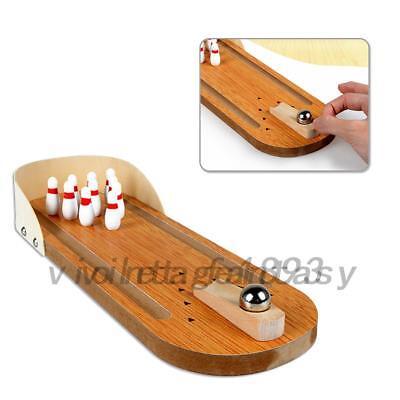 - Kids Children Wooden Mini Desktop Bowling Game Toys Desk Ball Board Games Gift