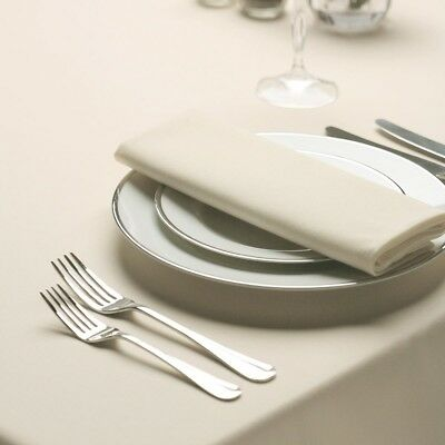 Used Ex Event Hire Richard Howarth Signature Ivory Polyester Napkins 51x51cm