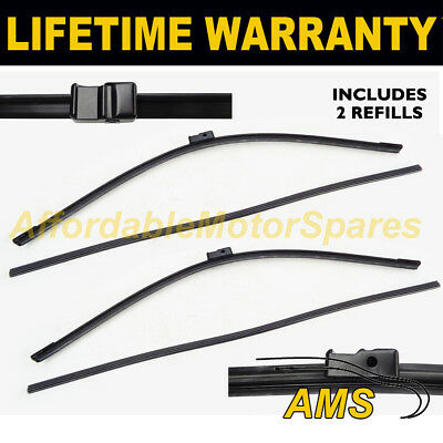 "FRONT AERO WIPER BLADES PAIR 27"" + 27"" FOR MERCEDES-BENZ S-CLASS COUPE 2006 ON"