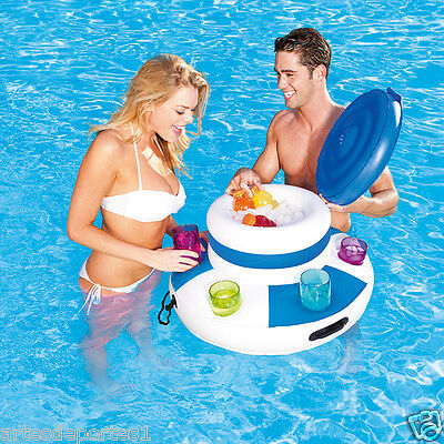Inflatable Floating Raft Chill Cooler Outdoor Swimming Pool Party Beverage - Inflatable Basketball Cooler