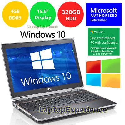 DELL LATiTUDE E6520 LAPTOP WINDOWS 10 WIN DVD INTEL i5 2.5GHz 4GB 320GB HD HDMI