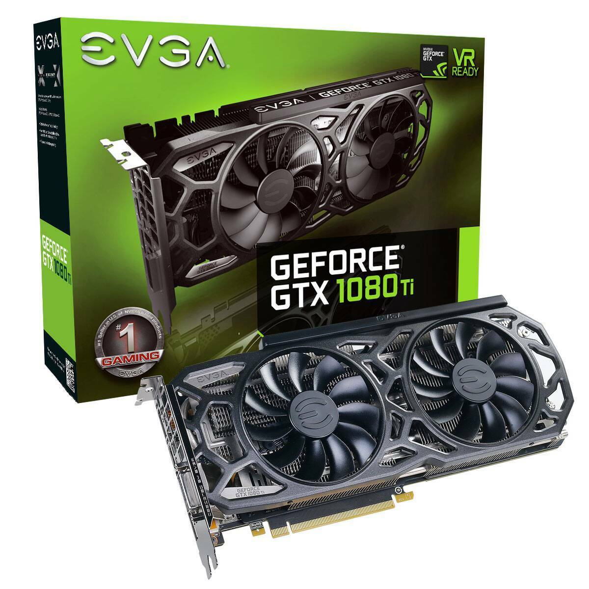 EVGA GeForce GTX 1080 Ti Black Edition GAMING, 11G-P4-6391-KR