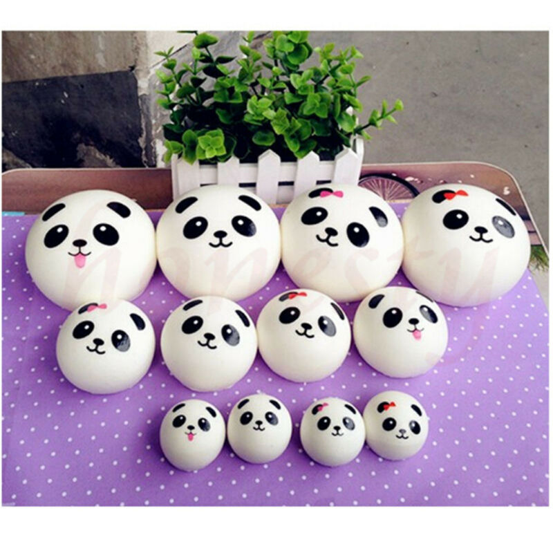 7cm Key/bag Strap Pendant Squishes Bag Accessories Jumbo Panda Squishy Charms Kawaii Buns Bread Cell Phone Bag Parts & Accessories
