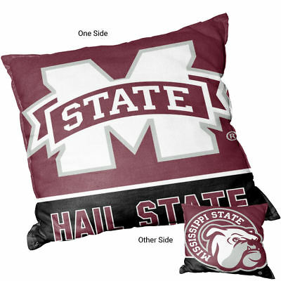 Mississippi State University Bulldogs Hail State Square Couch - Mississippi State Bulldogs Pillow