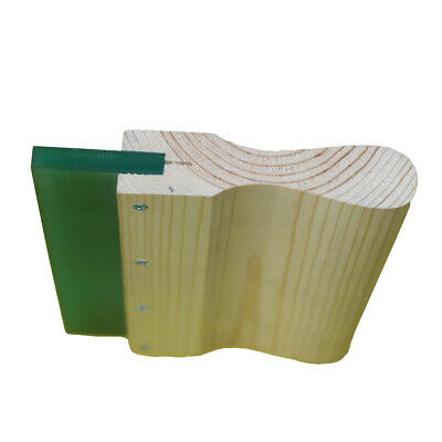 6 Inch Wood Silk Screen Squeegee Handle With 70 Duro Blade -- 4 Pc