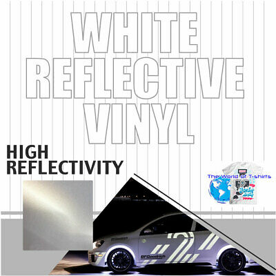 Reflective White Sign Vinyl Adhesive Safety Plotter Cutter 12x10ft