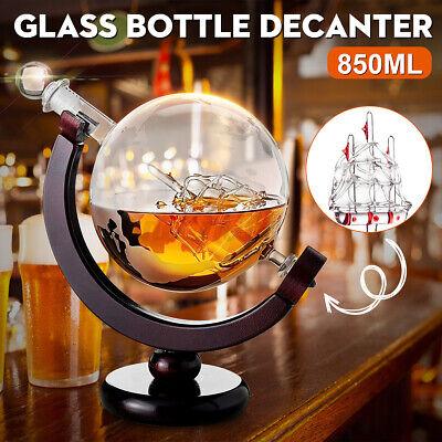 850ml Glas Wein Dekanter Whisky Karaffe Whiskey Dekanter Glaskaraffe Globus  !