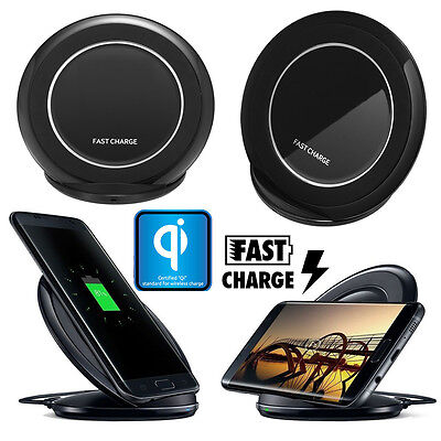 Qi Wireless Charger Charging Stand Dock Pad for Samsung Galaxy Note5 S6 S7 Edge