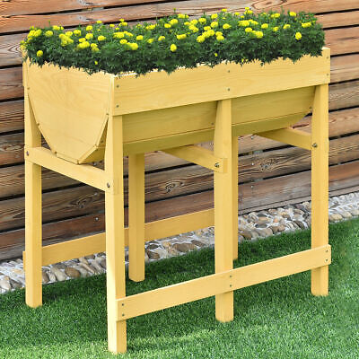Wooden Raised  V Planter Elevated Vegetable Flower Bed Planting Free Standing