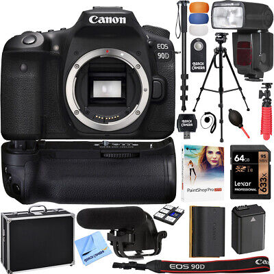 Canon EOS 90D 32.5MP APS-C CMOS DSLR 4K Camera (Body) Value Accessory Bundle