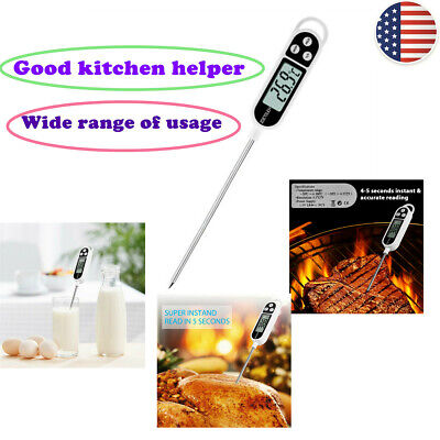Fast Instant Read BBQ Meat Food Digital Thermometer Probe Kitchen Baking Cooking
