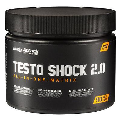 Body Attack Testo Shock 2.0 -90 Kapseln Tribulus Terrestris Maca T-Booster stark online kaufen