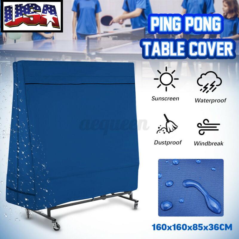 Waterproof Dustproof Table Tennis Ping Pong Table Cover Indoor Outdoor Protector