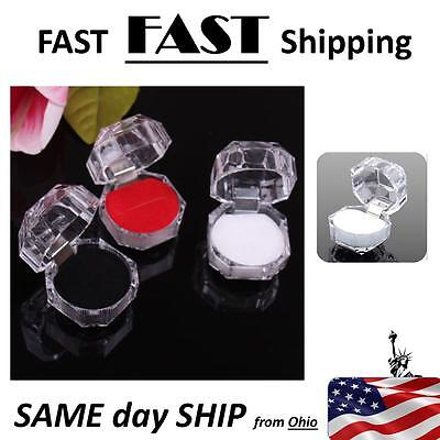 Wholesale White Crystal Ring Boxes --- 20 Pack Jewelry Store Supplies