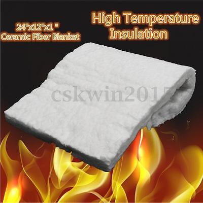 Aluminum Silicate High Temperature Insulation Ceramic Fiber Blanket 24x12x1