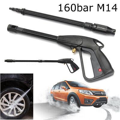 160bar M14 High Pressure Washer Spray Gun Car Wash Cleaning Lance Wand Kit Set