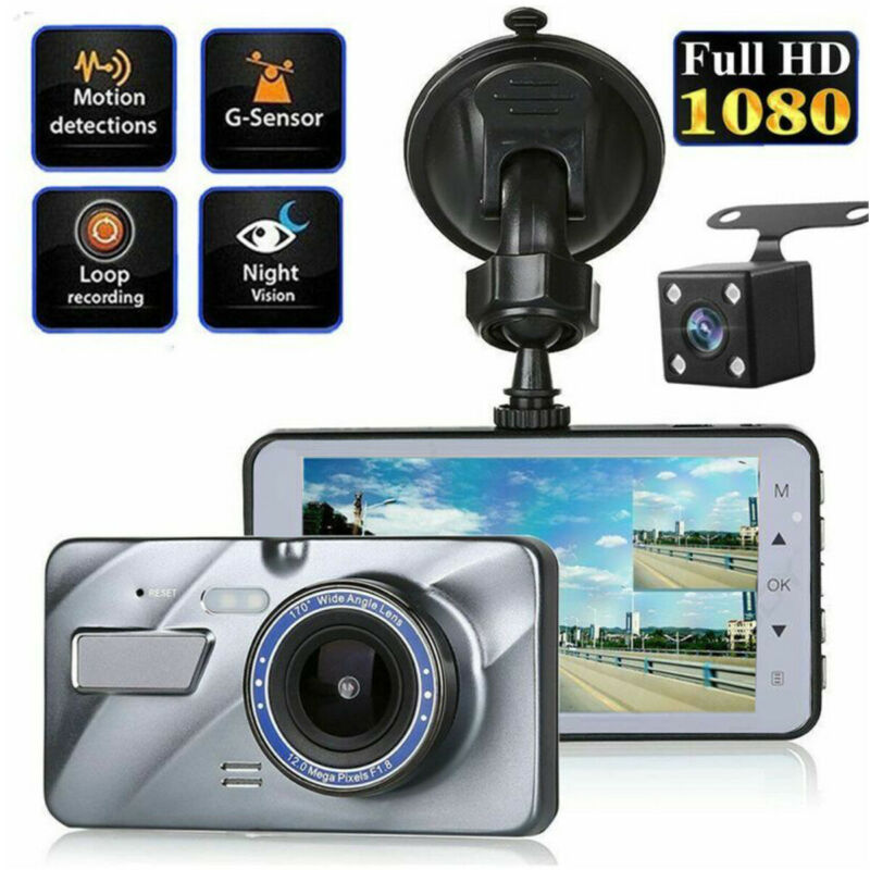 "XGODY Dual Lens 4"" Car DVR 1080P FHD Dash Cam Video Recorder"