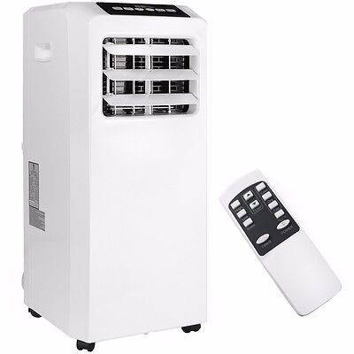 Portable 8000 BTU AC Air Conditioner Dehumidifier fan Unit with Remote White