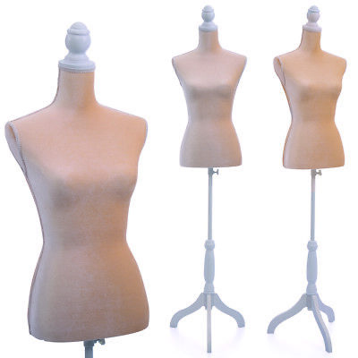 Female Mannequin Torso Dress Form Display W/ Tripod Stand  New