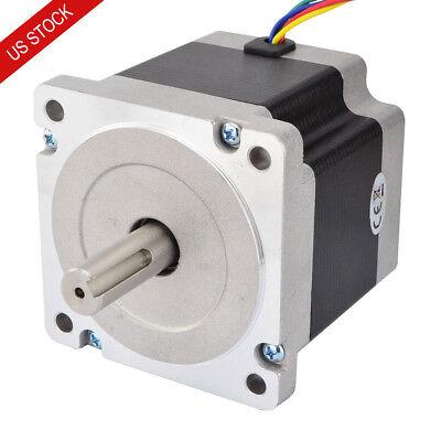 Nema 34 Stepper Motor 4.5nm 5.5a 14mm Key-way Shaft 4-wire Cnc Mill Lathe Router