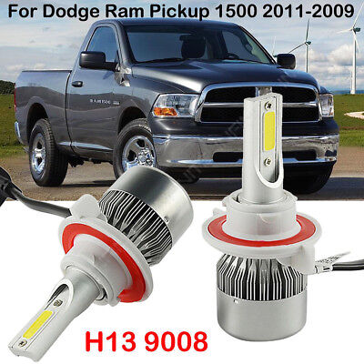 For Dodge Ram 1500 2011-2009 LED Headlight Kit Power Bulbs H13 9008 Hi/Low Beam