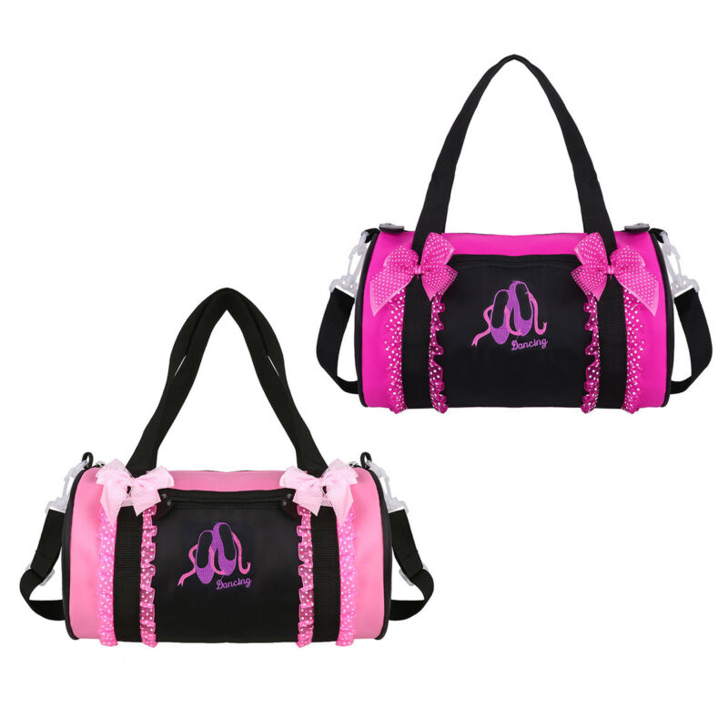 Ballet Duffle Bag Gym Shoulder Bag Dance Training Tote Bowknot Dress  Embroidery