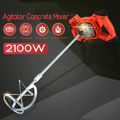 2100w Drywall Mortar Mixer Cement Render Paint Tile Concrete Plaster Rotary R